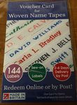 Woven name tapes 144